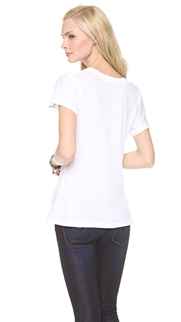 Wildfox Disco Tears V Neck Tee