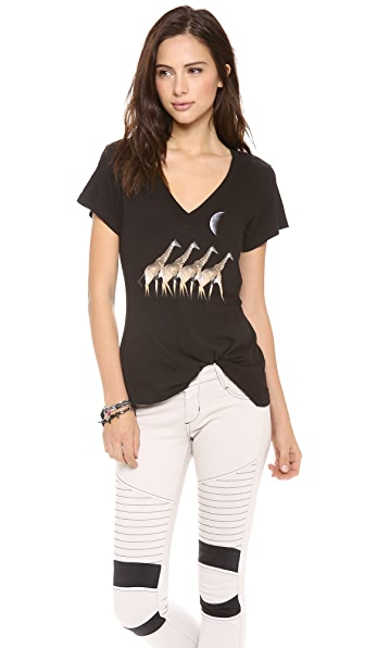 Wildfox Moonlit Safari V Neck Tee