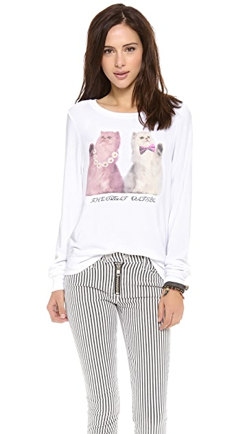 Wildfox The Great Catsby Baggy Pullover