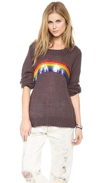 Wildfox Antique Rainbow Sweater
