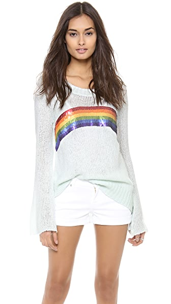 Wildfox Antique Rainbow Sweater