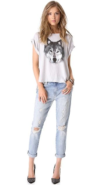 Wildfox Marissa Destroyed Boyfriend Jeans