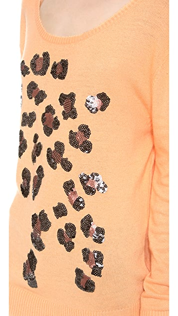 Wildfox Leopard Spots Sweater