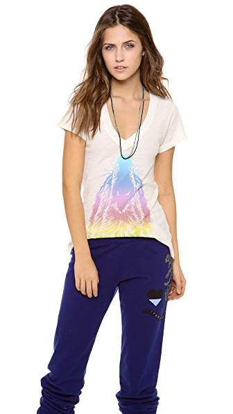 Wildfox Howl at the Rainbow Tee
