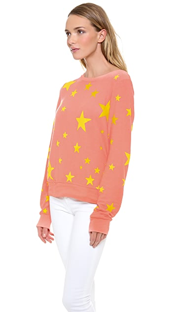 Wildfox Disco Star Baggy Beach Sweatshirt