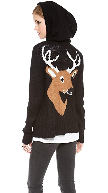 Wildfox Deer Head Hoodie