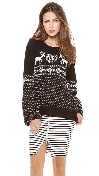 Wildfox Pastel Snow Babe Sweater