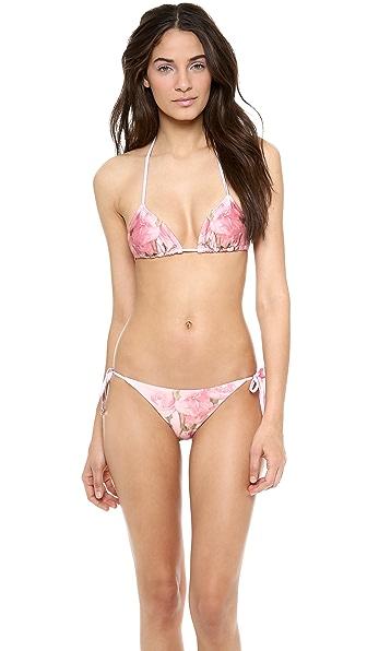 Wildfox Florida Garden String Bikini Top