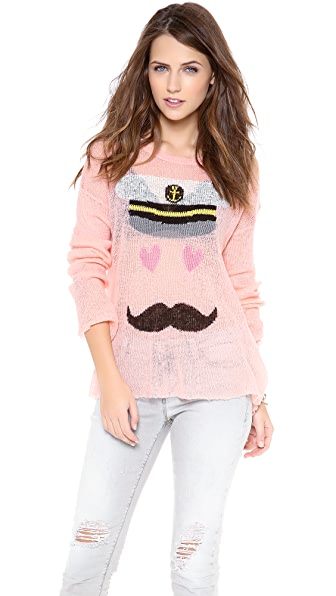 Wildfox Captain Loose Knit Sweater