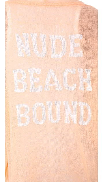 Wildfox Nude Beach Bound Loose Knit Cardigan