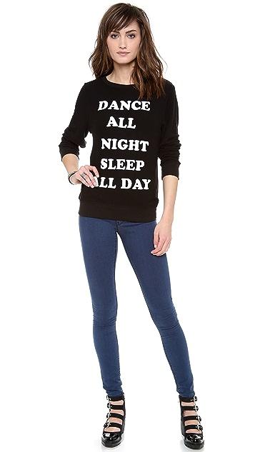 Wildfox Dance All Night Baggy Beach Sweatshirt