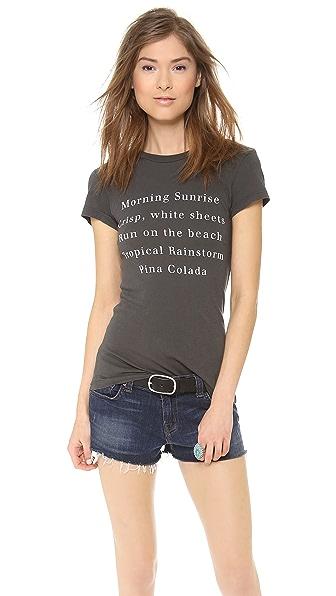 Wildfox Island List T-Shirt