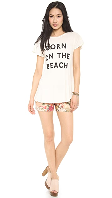 Wildfox Born on the beach T-Shirt
