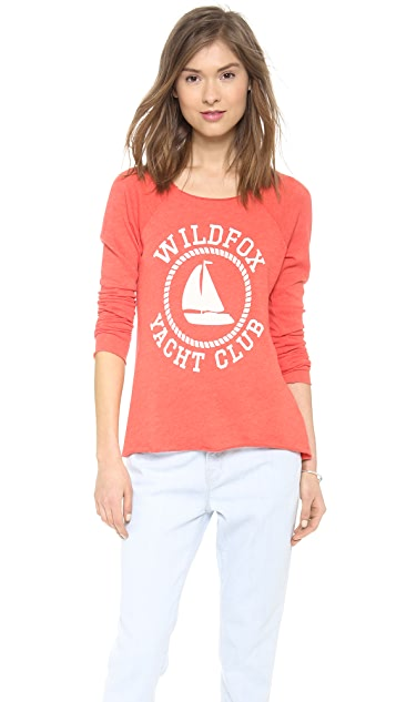 Wildfox Sail On Raglan Top