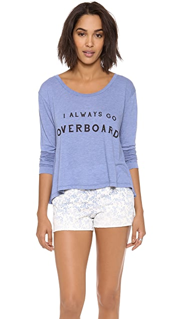 Wildfox Off the Deep End Long Sleeve Top