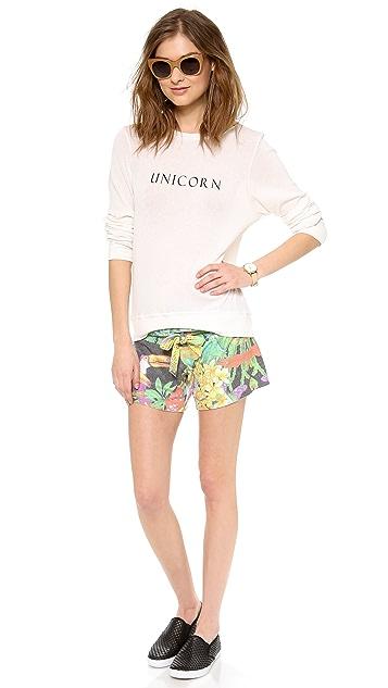 Wildfox Unicorn Baggy Beach Sweater