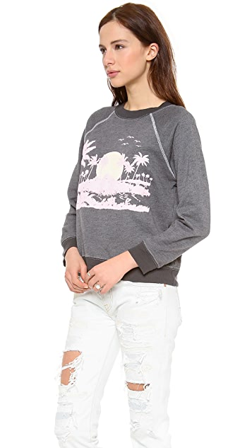 Wildfox Pink Island Sweater