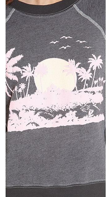 Wildfox Pink Island Sweater