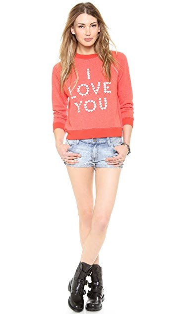 Wildfox Little Heart Spell Sweatshirt