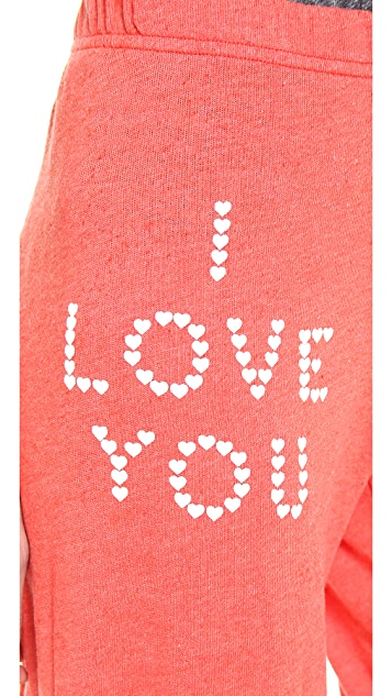 Wildfox Little Heart Spell Sweats