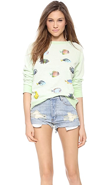 Wildfox Fishes Sweatshirt