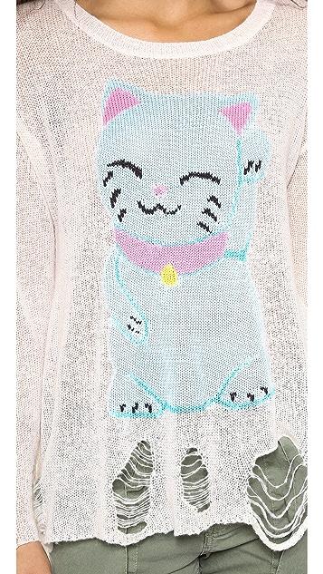 Wildfox Fat Cat Lenon Sweater