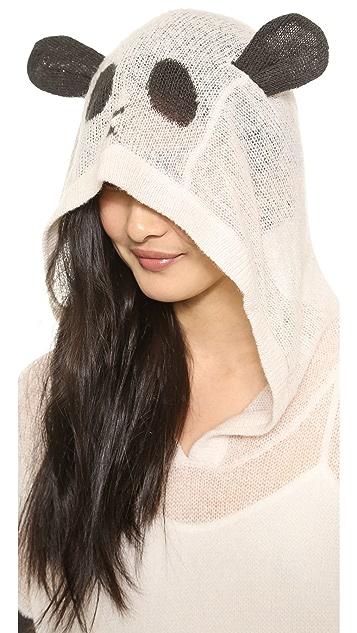 Wildfox Panda Face Hooded Sweater