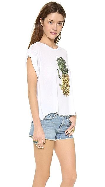 Wildfox Pineapple Day Jagged Edge Tee