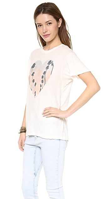 Wildfox Cali Heart Oversized Tee