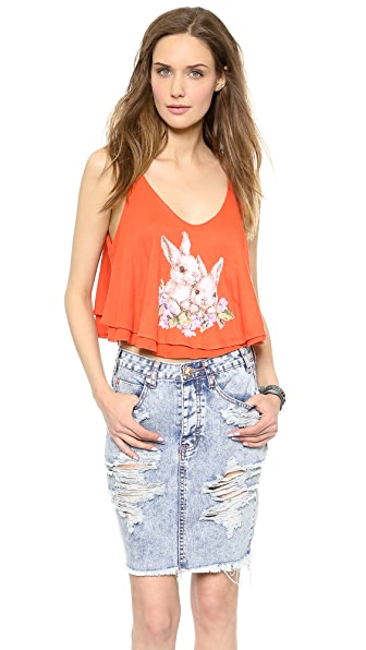Wildfox Bunny Cross Stitch Tank