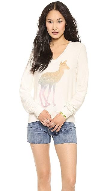 Wildfox Rainbow Fawn Baggy Beach Sweatshirt