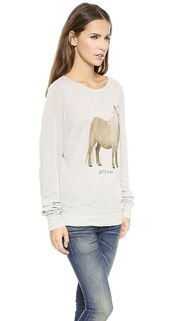 Wildfox The Perfect Gift Baggy Beach Sweatshirt