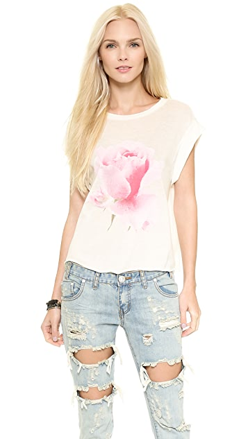 Wildfox Rainy Rose Tee