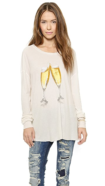 Wildfox Toast the NY Thermal Top