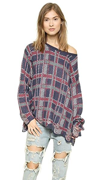 Wildfox Allover Plaid Sweater