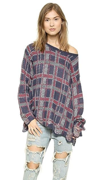 Wildfox Allover Plaid Sweater