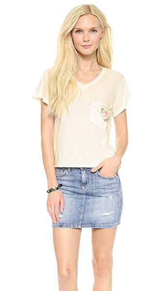 Wildfox Rose Pocket Tee