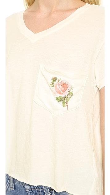 Wildfox Rose Pocket Tee