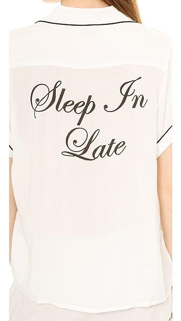 Wildfox Sleep in Late Pajama Set