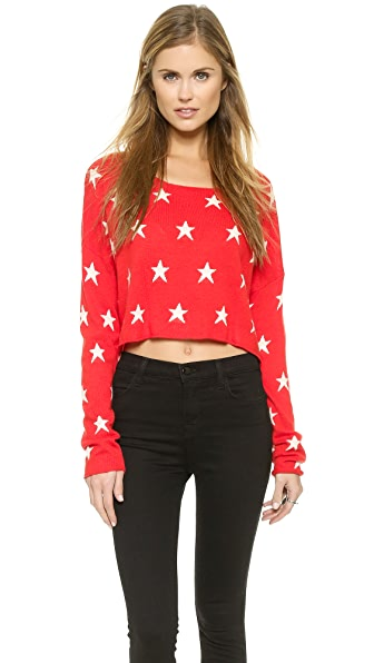 Wildfox Starlight Cropped Sweater