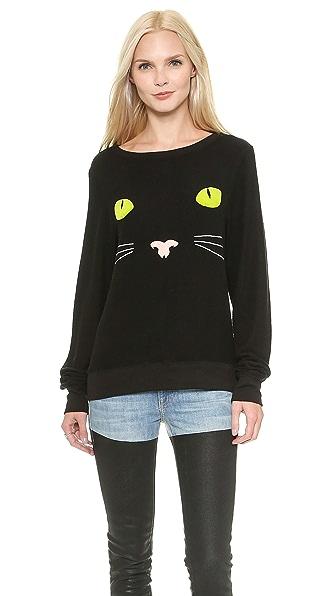 Wildfox Black Cat Sweater