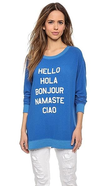 Wildfox Say Hello Sweatshirt