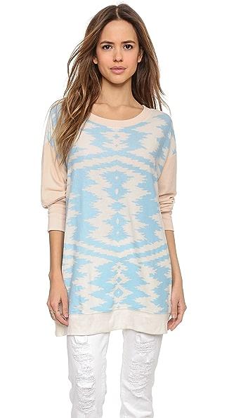 Wildfox Moroccan Zigzag Sweatshirt