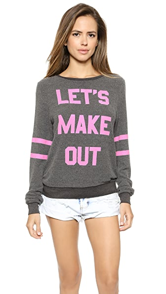 Wildfox Lets Make Out Pullover