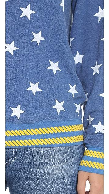 Wildfox Starry Sailor Baggy Beach Sweatshirt
