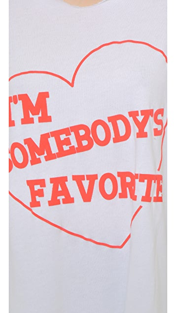 Wildfox I'm Somebody's Favorite Harbor Hoodie