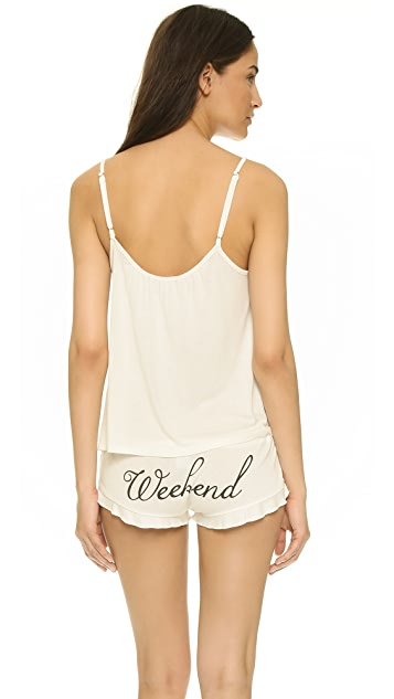Wildfox Weekend Lover Sleepover PJ Set