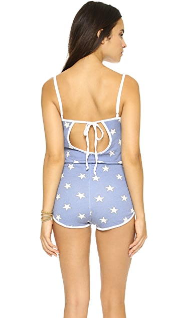 Wildfox Star Spangled Pool Party Romper