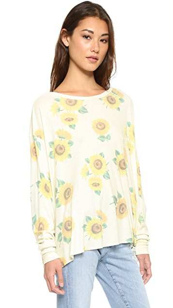 Wildfox Contempo Sunflower Effortless Tee