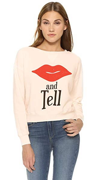 Wildfox Kiss And Tell Sweatshirt